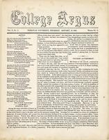 The college argus (January 14, 1869)