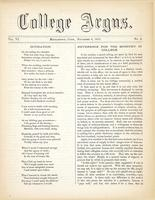 The college argus (November 6, 1872)