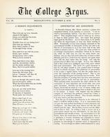 The college argus (October 2, 1875)