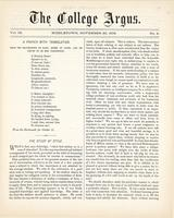 The college argus (November 20, 1875)