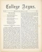 The college argus (February 12, 1873)