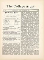 The college argus (October 28, 1879)