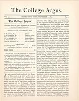 The college argus (November 7, 1879)