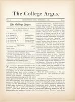 The college argus (February 1, 1881)