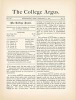 The college argus (February 21, 1882)