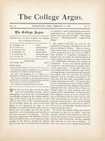 The college argus (February 22, 1881)