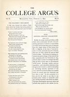 The college argus (February 2, 1870)