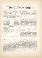 The college argus (April 22, 1881)