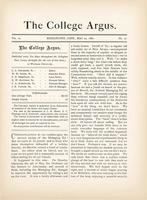 The college argus (May 20, 1881)