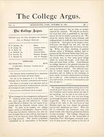 The college argus (October 18,1881)