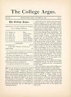 The college argus (October 28,1881)