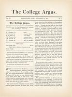 The college argus (November 29, 1881)