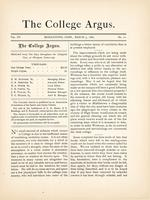 The college argus (March 3, 1882)