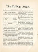 The college argus (October 27, 1882)