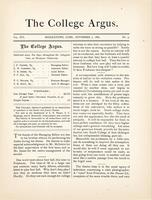 The college argus (November 7, 1882)