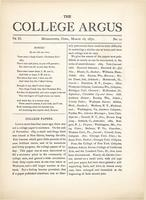 The college argus (March 16, 1870)