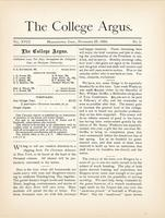 The college argus (November 25, 1884)