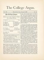 The college argus (March 5, 1887)