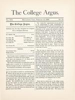 The college argus (February 10, 1886)