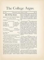 The college argus (March 17, 1887)