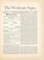 The Wesleyan argus (January 18, 1889)