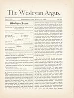 The Wesleyan argus (March 15, 1889)