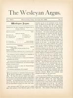 The Wesleyan argus (October 26, 1888)