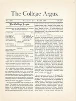 The college argus (May 22, 1886)