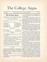 The college argus (October 15, 1886)