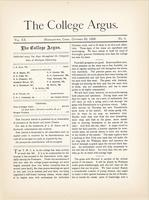 The college argus (October 26, 1886)