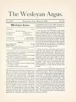 The Wesleyan argus (March 2, 1892)