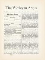 The Wesleyan argus (March 23, 1892)