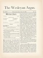 The Wesleyan argus (April 13, 1891)