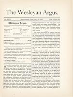 The Wesleyan argus (July 1, 1891)