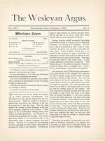 The Wesleyan argus (October 6, 1891)