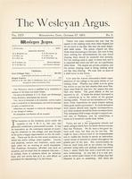 The Wesleyan argus (October 27, 1891)