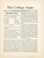 The college argus (November 18, 1881)