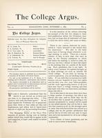 The college argus (November 2, 1880)