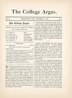 The college argus (November 23, 1880)