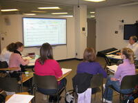 Students learning in the Debbie Friedman School of Sacred Music at HUC--JIR in NY