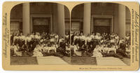 02.005.002 Unidentified stereograph photo of women in front of Webb Hall