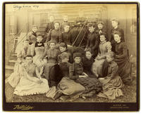 02.003.03 Group photo of Wesleyan women (Sarah Abbott, Lena Adams, Caroline Robbins ...)