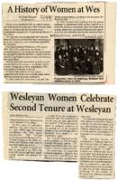 "01.002.005 Diana Silbergeld. ""A History of Women at Wes,"" Wesleyan Argus"