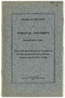 01.006.001 Board of Trustees printed minutes, June 22 and Nov. 13, 1908
