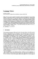 Language Orders