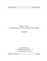 BCRA in Color: Incorporating Race into the Campaign Finance Debate