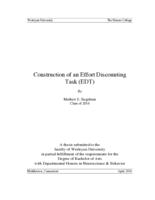 Construction of an Effort Discounting Task (EDT)