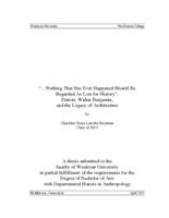 """... Nothing That Has Ever Happened Should be Regarded As Lost for History"": Detroit, Walter Benjamin, and the Legacy of Architecture"