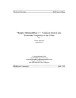 """Empty Millenial Frenzy"": American Fiction and Economic Prosperity of the 1990s"