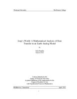 Joop's World: A Mathematical Analysis of Heat Transfer in an Earth Analog Model
